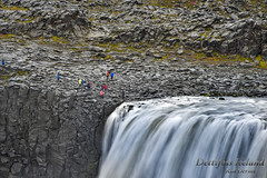 Life on the edge (R Dermo) Tags: waterfalls water rocks red river outdoors island iceland nikon landscape