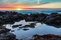 Bean Hollow State Beach, CA (j1985w) Tags: california beach ocean tidepool sunset sky clouds reflection rocks waves