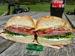 lunch (Jef Poskanzer) Tags: sandwich salami cheddar dutchcrunch cokezero andes woodlandmarket geotagged geo:lat=3789145 geo:lon=12248376 t