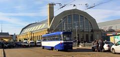 Latvia - Riga tram (onewayticket) Tags: tram transport urban rigassatiksme tatra t3a tatrat3a building architecture market riga latvia