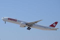 Swiss B77W, HB-JNF, TLV (LLBG Spotter) Tags: b777 aircraft tlv airline swiss hbjnf llbg