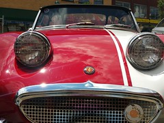 Austin Healey Sprite (Dave Redman pics) Tags: automobile auto classic sportscar antique headlights grille austinhealeysprite english car sporty convertible