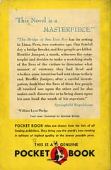 Pocket Books 9 - Thornton Wilder - The Bridge of San Luis Rey (back) (swallace99) Tags: pocketbooks vintage 40s paperback