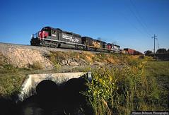 Ten Miles to Go (jamesbelmont) Tags: southernpacific riogrande drgw riverton draper utah willowcreek mdvro train railroad railway locomotive culvert water unionpacific sd40m2 emd sd40t2