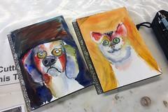 Dog and cat #watercolor #wip (Howard TJ) Tags: watercolor wip