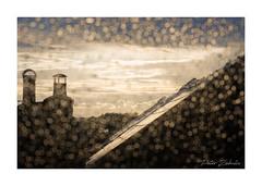 Rain (PeteZab) Tags: rain drops weather roof chimney urbancloud sunlight peterzabulis