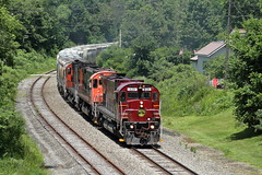 WNYP 630 south in Port Allegany, Pennsylvania on June 11, 2019. (soo6000) Tags: c628 alco portallegany pennsylvania freight sandtrain railroad regionalrailroad wnyp bigs ol2 sixaxlealco
