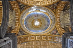 St. Peter's Basilica (Ryan Hadley) Tags: stpeters stpetersbasilica cathedral basilica church vatican vaticancity rome italy europe worldheritagesite ceiling gold dome