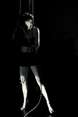 La Marionette (claudia 222) Tags: joandee utrecht performance marionette strength suspencion blackwhite bw