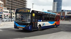 Stagecoach South 26151 (SN67 WVV) Portsmouth Harbour 15/6/19 (jmupton2000) Tags: sn67wvv alexander dennis enviro 200 mmc dart stagecoach south uk bus southdown coastline