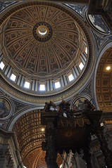 Dome & St. Peter's Baldachin (Ryan Hadley) Tags: italy vatican stpeters rome church europe cathedral basilica stpetersbasilica vaticancity architecture worldheritagesite altar dome baroque bernini baldacchino stpetersbaldachin