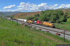 Highball Henefer (jamesbelmont) Tags: unionpacific ferromex henefer utah train railroad railway locomotive ge es44ac emd sd70m
