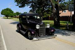 1932 Ford Hotrod (Gene Ellison) Tags: car ford hotrod purple street classic 1932 chrome bumper wheels fujifilm velvia sooc
