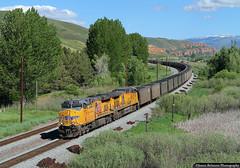 Black Butte Coal (jamesbelmont) Tags: unionpacific coal blackbutte wyoming valmy nevada henefer utah train railroad railway locomotive ge es44ac