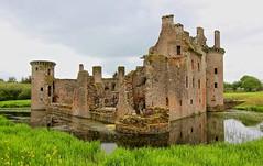 Caerlaverock Castle, Dumfries, Scotland, UK (BrianDerbyshire) Tags: uk scotland dumfries caerlaverock castle moat stonework battles sieges history caerlaverockcastle olympus