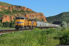 Grain Shuttle (jamesbelmont) Tags: unionpacific grain ge es44ac echo utah train railroad railway locomotive