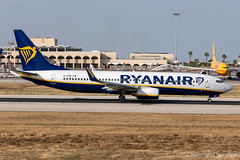 Ryanair Boeing 737-8AS 'EI-EGB' LMML - 10.06.2019 (Chris_Camille) Tags: spottinglog registration planespotting spotting maltairport airplane aircraft plane sky fly takeoff airport lmml mla aviationgeek avgeek aviation canon5d canon livery myphoto myphotography