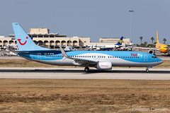 TUIfly Boeing 737-8K5 'D-ATUR' LMML - 10.06.2019 (Chris_Camille) Tags: spottinglog registration planespotting spotting maltairport airplane aircraft plane sky fly takeoff airport lmml mla aviationgeek avgeek aviation canon5d canon livery myphoto myphotography