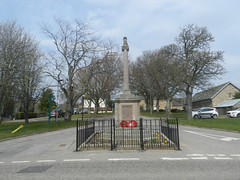 Knockando Parish War Memorial, Archiestown, April 2019 (allanmaciver) Tags: knockando archiestown scotland morayshire wreath remember lestweforget world war 1914 1919 1939 1945 parish freedom sacrifice men officers allanmaciver