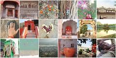 raj mosaic 2 (2) (belight7) Tags: india travel culture rajasthan pushkar man lake ashram art heart flowers feet hand desert ganpati