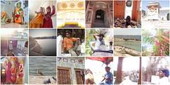 raj mosaic 2 (belight7) Tags: india rajasthan collage pushkar culture travel lake people locals birds flowers door