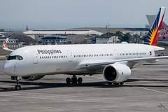 Philippine Airlines - Airbus A350-941 / RP-C3503 @ Manila (Miguel Cenon) Tags: pal pala350 pala359 pra350 pra359 philippineairlines planespotting ppsg philippines plane pr rpll airplane airplanespotting apegroup appgroup airport airbus airbusa350 airbusa359 a359 a350 manila nikon naia d3300 wings widebody widebodyjet wing twinengine fly flying jet rollsroyce rrtrent trentxwb sky aircraft window cockpit rpc3503 building city