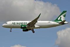 F-WWBI Airbus A320 Al Maha (@Eurospot) Tags: airbus a320 6529 fwwbi a7lad almaha toulouse blagnac lfbo