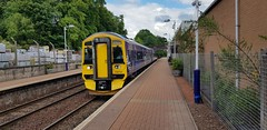 Abellio Scotrail Class 158 158741 departing Maryhill Station Platform 2 with service 2W59 (15-06-19) (Ricardo_Cameron) Tags: trains abellio scotrail class158 express sprinter brel 158741