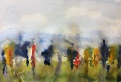 Ortez landscape #watercolor #wip (Howard TJ) Tags: watercolor wip