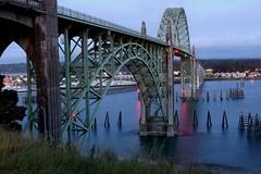 USA - OR - Newport - Yaquina Bay Bridge - Blue hour (mda'skaly) Tags: