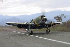 "1:72 Australian Department of Aircraft Production (DAP) ""Bunyip"" Mk. IIB, aircraft ""BF-K/A78-158"" of the Royal Australian Air Force (RAAF) No. 5 Squadron; Piva Airfield/Torokina on Bougainville (New Guinea), November 1944 (Whif/modified Eduard La-7 kit) (dizzyfugu) Tags: new guinea model conversion kit raaf 1944 172 whatif modellbau la5 la7 whif lavochkin dizzyfugu blue sky brown green dark earth 5 aircraft australian foliage production cac department bf boomerang airfield squadron piva bougainville bunyip torokina"