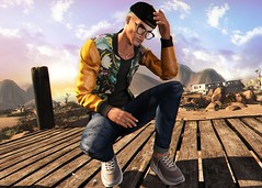 LOTD 533 (Brendo Schneuta) Tags: hxnor cap kalback jacket versov pants denim sneakers ckey poses pose glasses tmd releases events event mens male boy moda fashion style estilo keepcalm bloggersl blog blogger secondlifeblog secondlife second sl bento lelutka game avatar virtual