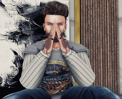 #171 - look at me (by Blog: Male Fashion Modern) Tags: cranked madamenoir xxxoriginal modulus photos secondlife breackout catwa fkd men dae poses