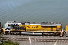 Grande on the INPOA (imartin92) Tags: pinole california unionpacific railroad railway freight train emd sd70ace locomotive riogrande drgw heritage unit up1989