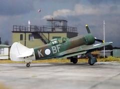 "1:72 Australian Department of Aircraft Production (DAP) ""Bunyip"" Mk. IIB, aircraft ""BF-K/A78-158"" of the Royal Australian Air Force (RAAF) No. 5 Squadron; Piva Airfield/Torokina on Bougainville (New Guinea), November 1944 (Whif/modified Eduard La-7 kit) (dizzyfugu) Tags: 172 lavochkin la7 la5 conversion whif whatif model kit modellbau dizzyfugu raaf new guinea 1944 bunyip boomerang cac australian department aircraft production 5 squadron piva airfield torokina bougainville foliage green dark earth brown sky blue bf"