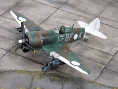 "1:72 Australian Department of Aircraft Production (DAP) ""Bunyip"" Mk. IIB, aircraft ""BF-K/A78-158"" of the Royal Australian Air Force (RAAF) No. 5 Squadron; Piva Airfield/Torokina on Bougainville (New Guinea), November 1944 (Whif/modified Eduard La-7 kit) (dizzyfugu) Tags: model conversion kit 172 whatif modellbau la5 la7 whif lavochkin dizzyfugu new blue sky brown green dark guinea earth 5 aircraft australian foliage production cac department bf raaf boomerang 1944 airfield squadron piva bougainville bunyip torokina"