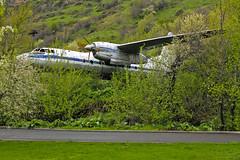 Antonov-24 plane (tzhskz) Tags: aircraft airplane airliner aeroflotsoviet antonov an24b cccp46749 mashat overcast cinema childrens