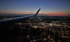 Frankfurt 1030pm (roomman) Tags: 2019 poland germany waw fra eddf epwa aviation transport transportation flight jet lor polish airlines airline travel evening late frankfzrt warsaw splin lin embraer e170 lot 23pm 22pm curfew sunset skyline city frankfurt
