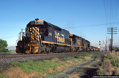 Milepost 707 (jamesbelmont) Tags: riogrande drgw emd sd40t2 geneva genevasteel orem 707 milepost vineyard train railroad railway locomotive