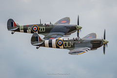 Spitfire Duo at Duxford (Mark_Aviation) Tags: spitfire duo duxford grace mark ix ml407 mh434 iwm mk 9 egsu daks over normandy ww2 wwii aircraft