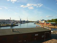 Die Trave im Lübecker Hafen (Jörg Paul Kaspari) Tags: lübeck hafen trave abendstimmung flus