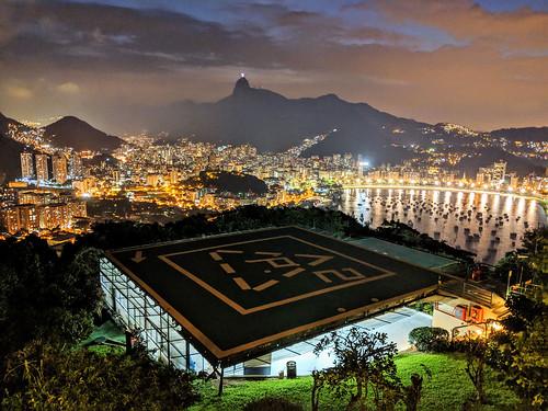 Helipad, sunset from Pão de Açúcar (Sugarloaf Mountain), Rio de Janeiro