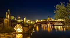 Prague - Charlesbridge by night (VintageLensLover) Tags: prag tschechien karlsbrücke nachtaufnahme langzeitbelichtung sonya7iii nacht brücke laowa15mmf2 manualfocuslens