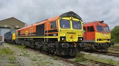 66623/60063/40012 (elr37418) Tags: db freightliner orange red midland railway center uk england shed ballast track 66623 60063 40012 nikon d7100 heritage gala diesel tug locomotives flickr