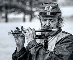 The Fifer (Wes Iversen) Tags: civilwar confederate detroit hsos historicfortwayne historicfortwaynecivilwardays michigan musicinbw nikkor18300mm smileonsaturday beards fifer fifes muscians musicalinstruments reenactors