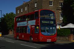 Metroline VW1057 (LK60AEB) on Route E8 (hassaanhc) Tags: metroline comfortdelgro comfortdelgrogroup wrightbus volvo b9tl