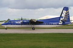 VLM Airlines - Fokker 50 - OO-VLL 'City of Groningen' (Andy2982) Tags: airliner vlmairlines fokker50 oovll cityofgroningen cn20144 manchesterairport