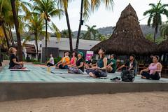 Morning Yoga at Pool, Palm Trees, Beach at Thompson Zihuatanejo (nan palmero) Tags: hyatt thompsonhotels thompsonzihuatanejohotel sony sonya7riii sonyalpha fullframe zihuatanejo mexico zihua yoga travel visitmexico palmtrees guerrero playalaropa