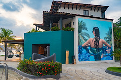 Sunset at Thompson Zihuatanejo with Bianca by Celeste Byers (nan palmero) Tags: hyatt thompsonhotels thompsonzihuatanejohotel sony sonya7riii sonyalpha fullframe zihuatanejo mexico zihua travel visitmexico palmtrees guerrero pacific painting mural celestebyers bianca playalaropa
