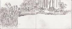 Staudhamer Weiher gegen Abend (raumoberbayern) Tags: zeichnung sketch drawing urbansketchers robbbilder pencil bleistift sketchbook skizzenbuch bayern
